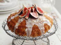 Orange Cake with Lemon Icing and Figs recipe