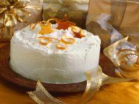 Orange Cream Cake with Caramel Stars recipe
