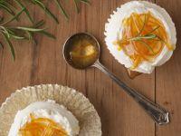 Orange Flower Cupcakes with Marshmallow Creme Topping recipe