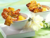 Orange-Glazed Shrimp Skewers with Mango Sauce recipe