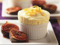 Orange Ice Cream with Grilled Figs recipe