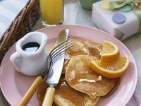 Orange Pancakes with Syrup recipe