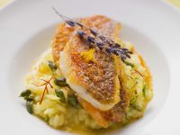 Orange-Scented Risotto with Sautéed Red Mullet recipe