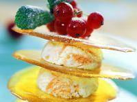 Orange Swirl Frozen Yogurt with Caramelized Sugar recipe