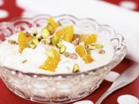 Orange Yogurt with Pistachios recipe