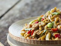 Oriental-style Orzo and Chicken Salad recipe