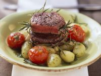 Ostrich Medallions with Potato Gnocchi and Rosemary recipe