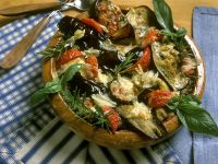 Oven Baked Eggplant Slices with Cheese recipe