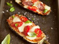 Oven-baked Eggplant with Tomato Sauce and Mozzarella recipe