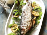 Oven-Baked Whole Trout