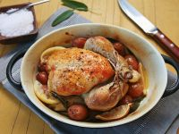 Oven Roast Chicken and Potatoes recipe
