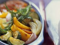 Oven-Roasted Ratatouille with Peppers, Zucchini and Garlic recipe