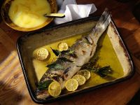Oven-roasted Sea Bass with Lemon recipe