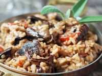 Oyster Mushroom and Sun-dried Tomato Risotto recipe
