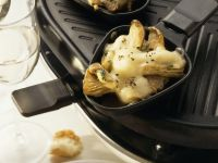 Oyster Mushroom & Cheese Raclette recipe