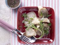 Oyster Mushrooms with Arugula recipe