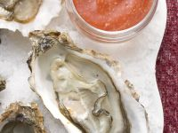 Oysters with Cocktail Sauce recipe