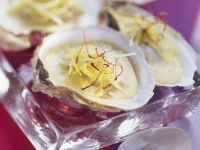 Oysters with Leek and Saffron Sauce recipe