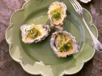 Oysters with Aromatic Sabayon recipe