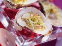 Oysters with Leeks Cream recipe