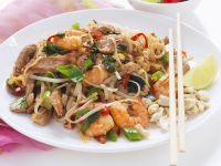 Pad Thai (Shrimp and Chicken Rice Noodles) recipe