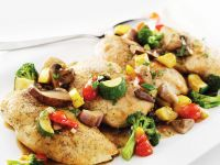 Pan-fried Chicken with Mixed Vegetables recipe