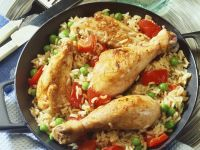 Pan-fried Chicken with Rice recipe