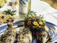 Pan-Fried Fish with Dip and Salad recipe