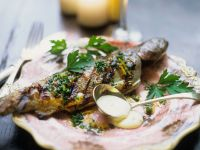 Pan-fried Trout with Mustard-cream Sauce recipe