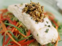 Pan-fried Turbot with Shredded Veggies recipe