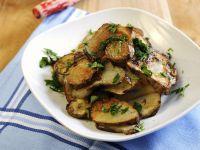 Pan Roasted Jerusalem Artichokes with Garlic and Parsley recipe