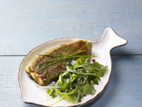 Pan-seared Salmon with Arugula Salad recipe