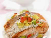 Pan-Seared Salmon with Mustard Sauce recipe