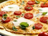 Pancake Pizzas with Tomato and Mozzarella recipe