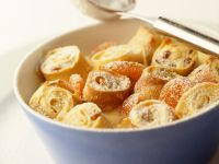 Pancake Rolls with Raisins and Almonds recipe