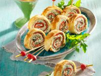 Pancake Roulade Slices recipe