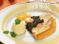 Pancakes with Apricot Filling recipe