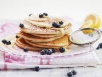 Pancakes with Blueberries and Lemon Cream recipe