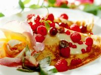 Pancakes with Candied Flowers recipe