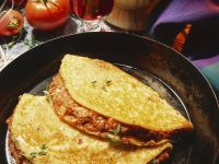 Pancakes with Ground Meat Filling recipe