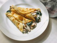 Pancakes with Mushroom Ragout Filling recipe
