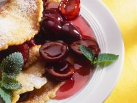 Pancakes with Plum Compote recipe