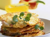 Pancakes with Potatoes, Pancetta and Cheese recipe