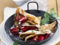 Pancakes with Strawberries and Mascarpone recipe