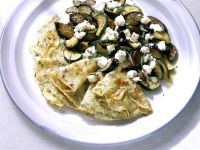 Pancakes with Zucchini and Eggplant Filling recipe