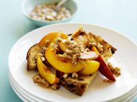 Panettone with Nectarines and Nuts recipe