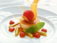 Panna Cotta with Raspberry Sorbet recipe