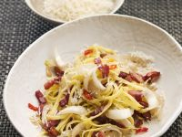 Papardelle with Chili, Bacon and Endive recipe