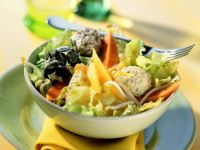 Papaya and Mango Salad with Cream Cheese Balls recipe