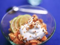 Papaya with Coconut Crumble recipe